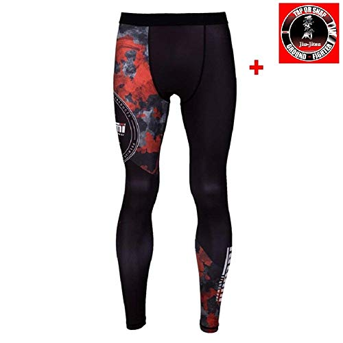 3f6885545 Tatami Compression Spats Renegade – Red Camo – MMA BJJ Grappling Fitness  Deportes Leggings Spats No