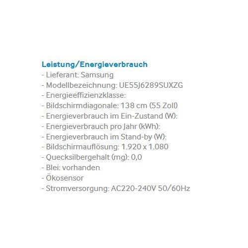 Samsung J6289 138 cm (55 Zoll) Fernseher (Full HD, Triple Tuner, Smart TV) -