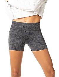 LAPASA Short Sport Femme Yoga Fitness Running Gym Élastique Stretch Gaine  Large L09 89a85c76d2a