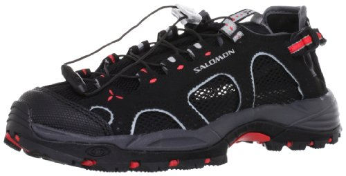 Salomon Techamphibian 3 W, Sandales de Randonnée Femme Noir (Black/Dark Cloud/Papaya B)