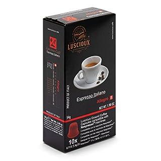 Luscioux Allegro Nespresso-kompatible Kapseln | Intensives Aroma | 10 Packungen - insgesamt 100 Kapseln