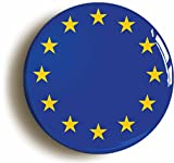 EUROPEAN UNION EU FLAG BADGE BUTTON PIN (Size is 1inch/25mm diameter)