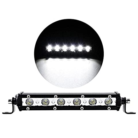 Hunpta 7inch 18W Led Work Light Bar Flood Spot Suv Boat Driving Lamp Offroad 4WD (Black)