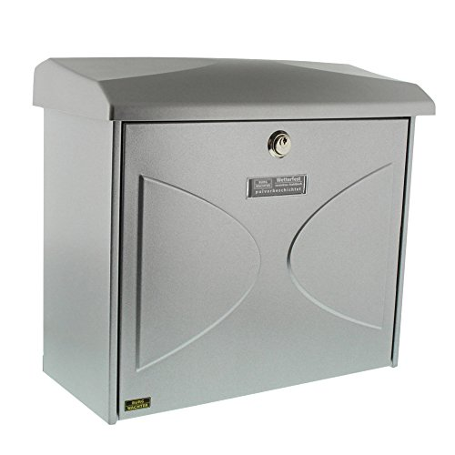 BURG-WÄCHTER, Briefkasten mit integriertem Zeitungsfach, A4 Einwurf-Format, Verzinkter Stahl, Futura 926 Si, Silber