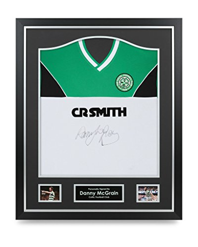 Danny-McGrain-Signed-Shirt-Celtic-Framed-Autograph-Retro-Jersey-Memorabilia-COA