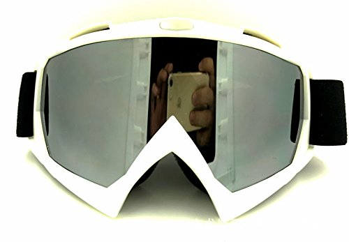 La moto le ski de fond,lunettes de sport boîte blanche + mercury