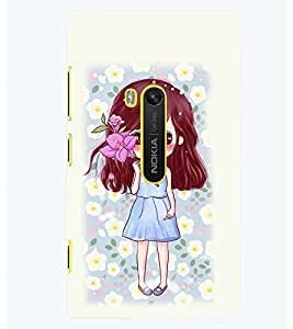 PRINTSWAG CUTE GIRL WITH FLOWER Designer Back Cover Case for NOKIA LUMIA 920