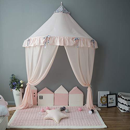 OldPAPA Kinder Bett Baldachin, Kuppel Baumwoll Betthimmel Moskitonetz für Innen Lese Schlafzimmer, Prinzessin Spielzelt für Kinder, Perfekt für Kinder Schlafzimmer Dekoration 145x250cm -