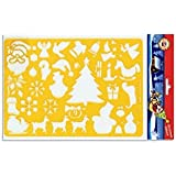 Koh-I-Noor Hardtmuth Drawing Template - Christmas Stencil - 30 designs - 31.5 cm X 20 cm