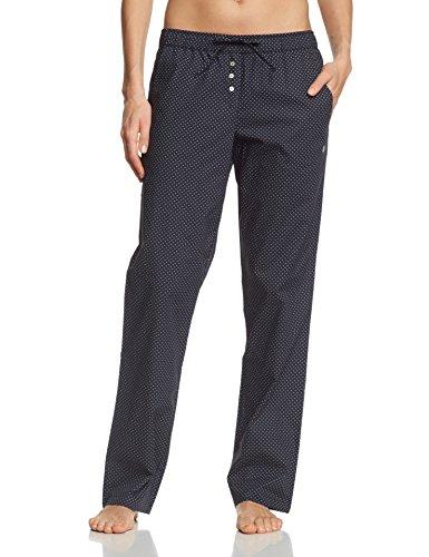 Marc O'Polo Body & Beach Damen Lange Schlafanzughose PANTS, Gr. 36 (Herstellergröße: S), Schwarz (blauschwarz 001) (Damen Pyjama Hose)