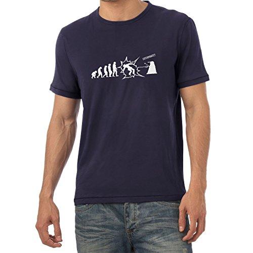 Texlab Exterminate Evolution - Herren T-Shirt, Größe XXL, Navy (Film-qualität-kostüme-iron Man)