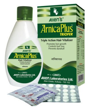 Allens Arnica Plus Triofer - Triple Action Hair Vitalizer - 100Ml With 50 Tabs
