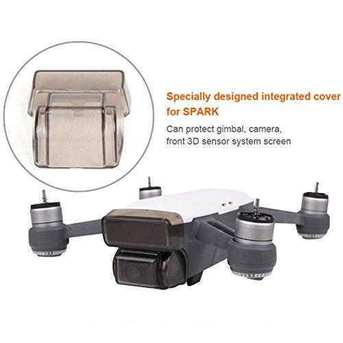 Preisvergleich Produktbild Flycoo Gimbal-Schutz Schutz der Plattform für DJI Spark-Cap Haube Kamera und 3D-Erfassungssystem abstürzt gegen Staub und Wasser während des Transports