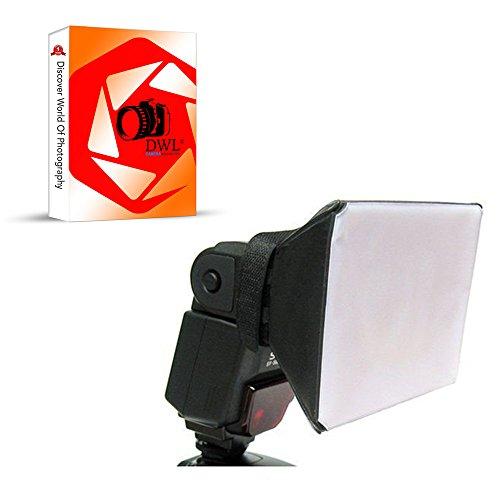 DWL Soft Box Blitz-Diffusor für Canon, Nikon, Olympus, Pentax, Sony Blitzgeräte (Universal)