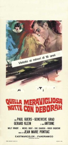 Flash Love poster Movie Italian 13x 28pollici-34cm x 72cm Paul Guers Geneviève grad Gérard Klein Bernard Lavalette François Blanc