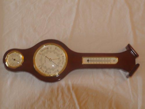 Barómetro/Termómetro/higrómetro de piano acabado 44cm