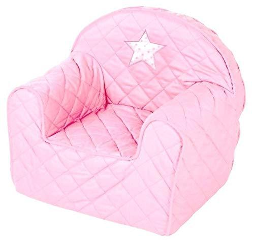 Albero Mio Kindersessel rosa für Mädchen, Babymöbel, Kindersofa, gemütlich mit waschbarem Bezug