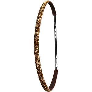 Ivybands® | Das Anti-Rutsch Haarband | Cappuccino Glitzer | Braun | One Size | IVY686