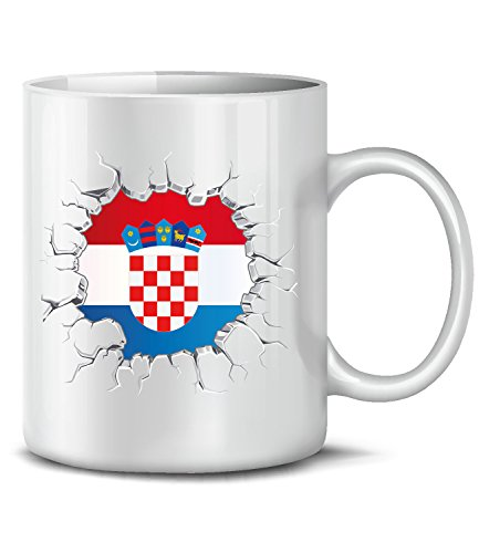 Golebros Kroatien 5687 Fussball Fan Fanartikel Geburtstag Geschenk Croatia Hrvatska Fun Tasse Becher...