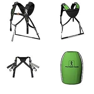 The Piggyback Rider Standing Child Carrier - NOMIS Basic Model - Green