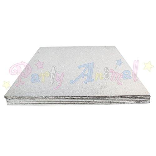 15,24 cm forte carré argenté en isorel Plateau à gâteau Boards – Pack of 5