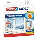 tesa 6 x Fenster-Isolierfolie Thermo Cover 1,7x1,5m transparent