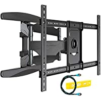 Invision Ultra Strong TV Wall Bracket Mount Double Arm Tilt & Swivel for 37-70 Inch (94-178cm) LED LCD OLED Plasma & Curved Screens - Up to VESA 600mm(w) x 400mm(h) - Max Load 50kg (HDTV-DXL)