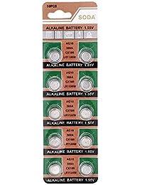 10 unids/Pack AG10 LR1130 389A LR54 L1131 189 Pila alcalina del botón de la célula 1.5V para la promoción del Reloj del Reloj -