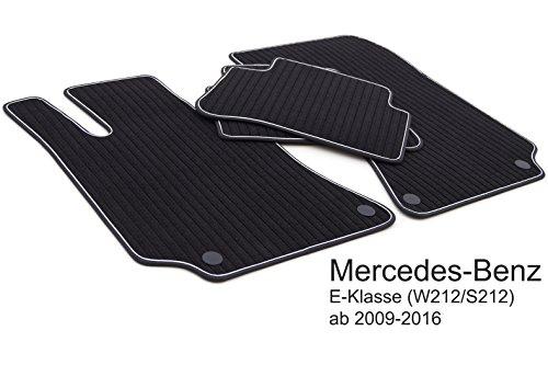 kh Teile Fußmatten / Rips Automatten Original Qualität, Ripsmatten 4-teilig, schwarz mit weißen Band
