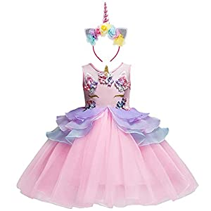Niña Vestido 2PCS Princesa Unicornio