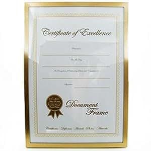 "A4 Document Award Certificate Photo Frame 8.25"" x 11.75"" 21 x 29.7cm Gold New"