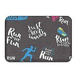 Yxungdiy Carpet Non-Slip Floor Mat Athlete Runner Feet Running Doormat for Bathroom and Livingroom