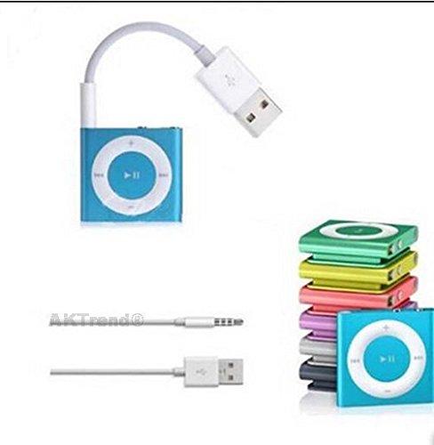 Original AKTrend® USB Kabel Für iPod shuffle der 1. / 2. / 3. / 4. und 5. Generation , USB-Kabel / Ladekabel / Datenkabel Für Apple iPod shuffle AK-SH-01