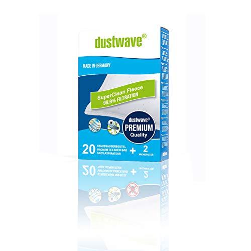 "Megapack - 20 dustwave Premium-Staubsaugerbeutel geeignet für Rowenta - RO 2345 / RO2345 Power Space Bodenstaubsauger - Microvlies-Filtertüten""Made in Germany"" inkl. Microfilter"