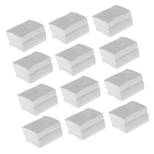 perfk 1200pcs-Set Abschminkpads Wattepads Baumwolle Pads fusselfrei