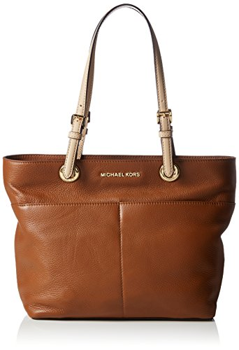 Michael Kors Women's Bedford Leather Tote Shoulder Bag Brown Braun (Luggage 230)
