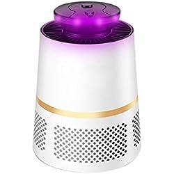 ZH USB Electrónico LED Insecto Asesino Mosquito Trampa Colector Eliminar Hormiga Ratón Cucaracha Araña Pulga Ultravioleta Repelente de Insectos Mosca, 8x13x17cm (Color : Blanco)
