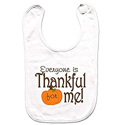 7 ate 9 Apparel Unisex Thanksgiving Bib for Babies -