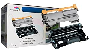 Toner + Tambour Compatible Pour Brother TN2220 TN 2220 , DR 2200 , DR2200 HL-2250 HL-2240D HL-2240 HL-2270DW MFC 7360N DCP 7070DW MFC 7860DW MFC 7460 DCP 7065 DCP 7060 DCP 7060D (Noir 2.600 feuilles tambour 12.000 feuilles)