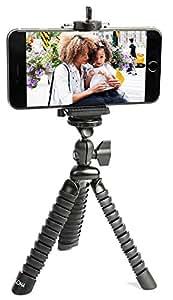 Supporto treppiede iPhone universale con impugnatura flessibile, miglior treppiede con gambe Octopus si adatta a qualsiasi smartphone, portatile, per viaggi e avventure.