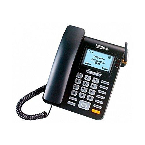Maxcom   teléfono Fijo gsm de Escritorio con Tarjeta sim función SMS (Seniors, Escritorio.)  mm28d  Negro