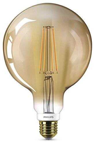 Philips LEDclassic Lampe Gold, Vintage Retro-Design ersetzt 50W, E27, goldweiß (2000 Kelvin), 610 Lumen, Globe, Dekolampe, dimmbar