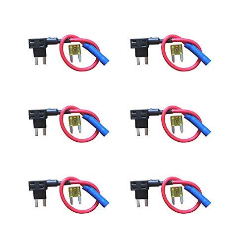Preisvergleich Produktbild 6 Stück Universal hinzufügen eine Schaltung Auto Mini Blade Sicherung Halter Adapter APS Att Piggy Rückseite Tippen