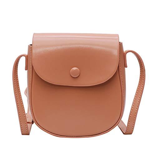 Mitlfuny handbemalte Ledertasche, Schultertasche, Geschenk, Handgefertigte Tasche,Damenmode Flip Pure-Color Cover Retro Umhängetasche Geldbörse Flap Bag