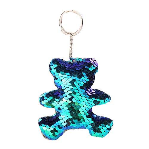 AGGIEYOU Nette Katze Keychain Glitter Pompom Pailletten Schlüsselanhänger Geschenke für Charms Car Bag Schlüsselanhänger, YL011