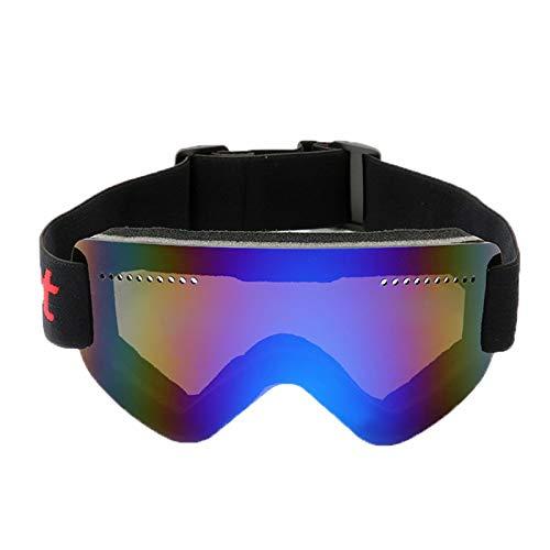 Aienid Radbrille Polarisiert Blau Skibrille Winddichter Augenschutz Size:18X9CM
