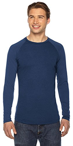 Authentische Pigment-pigment (Authentische Pigment Herren True Spirit Raglan T-Shirt Gr. Small, Denim)