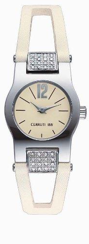 Cerruti CT057442006 - Reloj analógico de mujer de cuarzo con correa de plástico blanca - sumergible a 30 metros