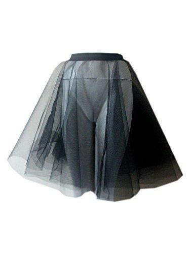 Erwachsene gepunktet, Rock, Rock n Roll, 50er/60er-Jahre-Stil mit Krawatte 17 Verschiedenen Farben 43.18 cm Länge Black Netting 2Layers