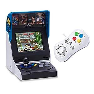 NEOGEO Mini Console: International Edition plus NEOGEO Mini White Controller Bundle (Includes 40 Games)